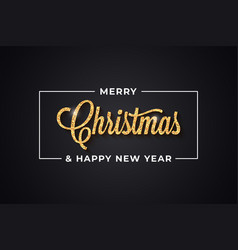 Christmas golden vintage lettering with merry xmas vector