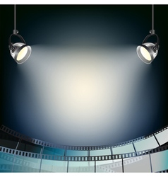 cinema projector background vector image vector image
