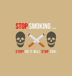 collection background no tobacco day style vector image
