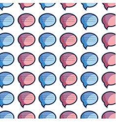 Color chat bubble communication message background vector