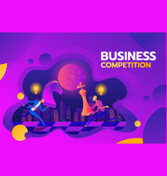 concept of business competition businessmen hold vector image