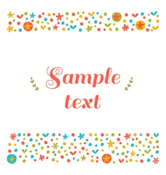 Cute greeting card with floral design elements vector