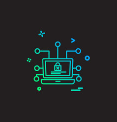 cyber security icon design vector image