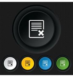 Delete file sign icon Remove document symbol vector