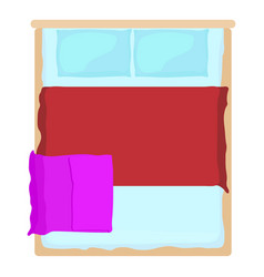 double bed icon cartoon style vector image