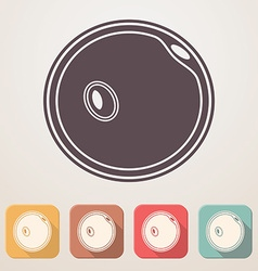 Egg cell flat icon set in color boxes with shadow vector
