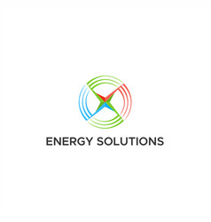 energy solutions logo vector image