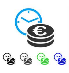 Euro credit flat icon vector