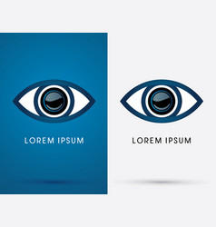 eye abstract vector image