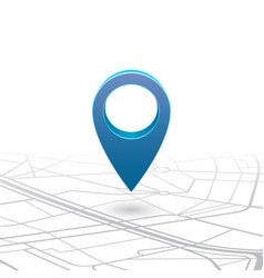 gps navigator pin checking blue color on map vector image