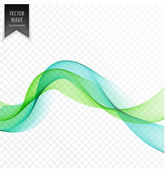 green wavy abstract wave background vector image