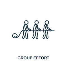 Group effort icon outline style thin line vector