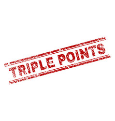 Grunge textured triple points stamp seal vector