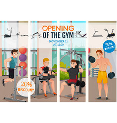 Gym opening poster vector