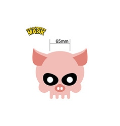Halloween Mask skull of a pig Dear head of vector image
