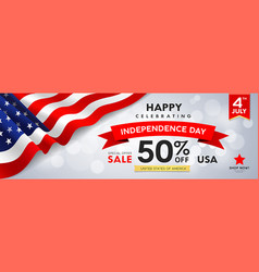 happy celebrating independence day for sale vector image