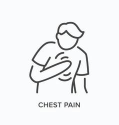Heartbrake line icon outline vector