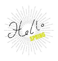 Hello spring concept vector