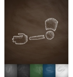 Implant hands icon vector