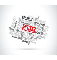 Job skills text background vector