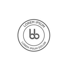 logo stamp classic design vector image