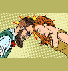 Man vs woman confrontation and competition vector