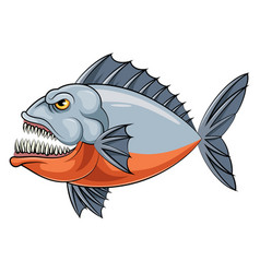 Mascot fish an piranha vector