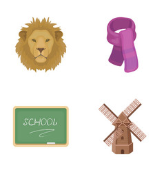 Menagerie education and other web icon in cartoon vector