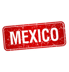 Mexico red stamp isolated on white background vector