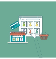Mobile marketing and online shopping concept flat vector
