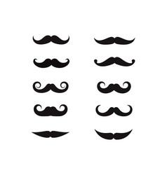 Mustache icon logo template vector