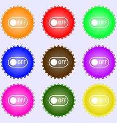 Off icon sign big set of colorful diverse vector