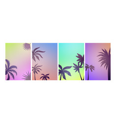 palm beach posters summer background colorful vector image