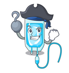 Pirate infussion bottle character cartoon vector