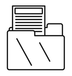 Property mail tax icon outline style vector