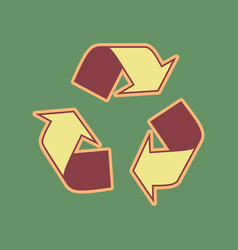 Recycle logo concept cordovan icon and vector