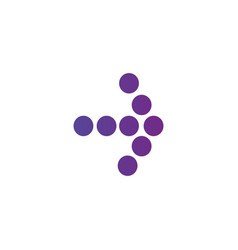 Right purple gradient dotted arrow icon continue vector