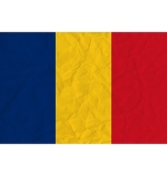 Romania paper flag vector
