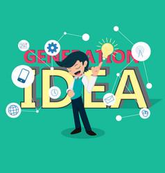 salary man 01 idea generation vector image