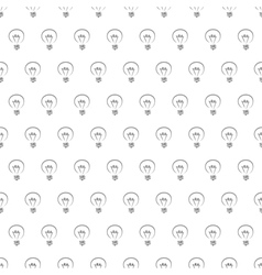 Seamless pattern texture background with bulbs vector image