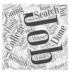 Search for jobs word cloud concept vector