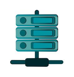 servers web hosting icon image vector image