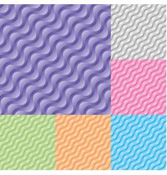 set diagonal wavy stream seamless pattern vector image
