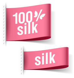 Silk product clothing labels vector image