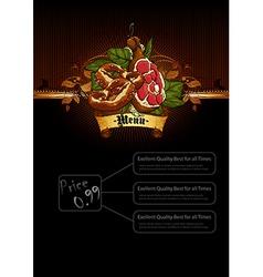 Snack menu vector