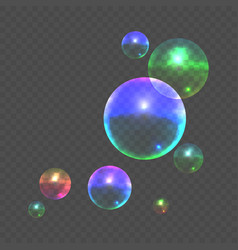 stock color realistic bubble vector image