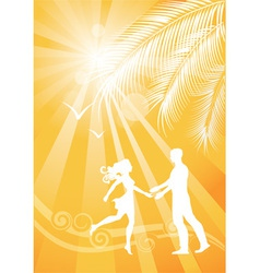 Summer yellow background vector image