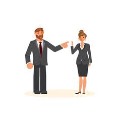 Superior professional relationship concept vector