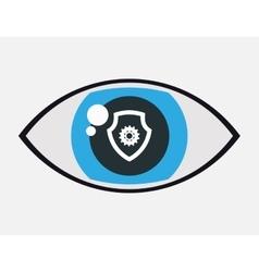 Surveillance home security gear guard vector