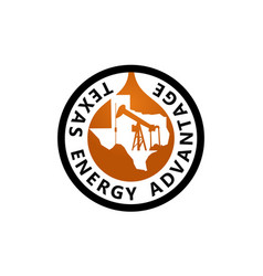 texas energy advantage oil mining vector image